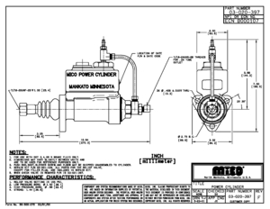 03-020-397 by MICO - MASTER CYLINDER (Please allow 7 days for handling. If you wish to expedite, please call us.)