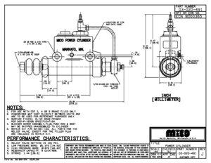 03-020-491 by MICO - MASTER CYLINDER (Please allow 7 days for handling. If you wish to expedite, please call us.)