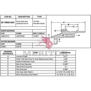 05-15955-1000 by MERITOR - HYDRAULIC BRAKE - HUB ASSEMBLY