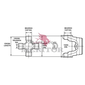 GCP178X by MERITOR - U-JOINT