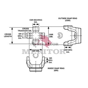 GCP213X by MERITOR - U-JOINT