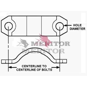REBC131 by MERITOR - BRG CLAMP