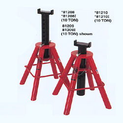 81210I by NORCO - 10 Ton Cap. Jack Stands - Pin Type-[High] - Imported