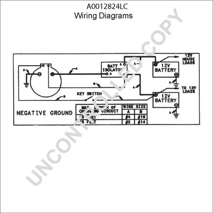 a0012824lc by leece neville high output alternator prestolite alternator wiring diagram terminals duvac alternator wiring diagram #8