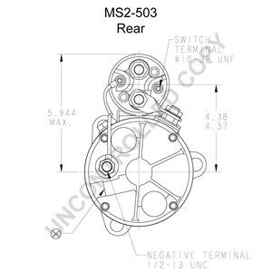 MS2-503 by LEECE NEVILLE - Heavy Duty Starter Motor