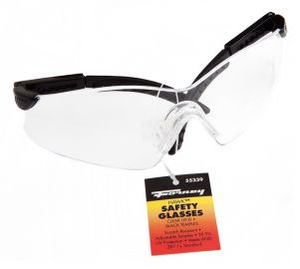55339 by FORNEY INDUSTRIES INC. - Safety Glasses, Hawk™ Clear Lens with Black Frame
