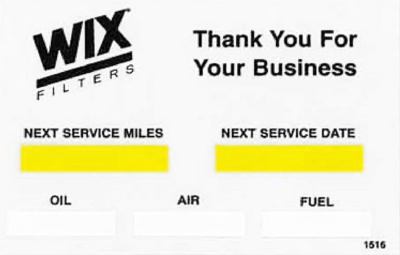 WIX FILTERS WI1516