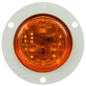 30265Y by TRUCK-LITE - 30 Series, European Flush Mount, LED, Yellow Round, 1 Diode, Marker Clearance Light, ECE, Gray Polycarbonate Flange Mount, Fit 'N Forget M/C, 12-24V