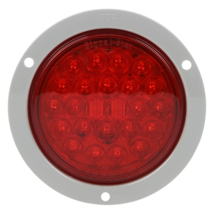 4053 by TRUCK-LITE - Signal-Stat, LED, Red, Round, 24 Diode, Stop/Turn/Tail, Gray Flange, PL-3, 12V