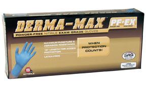 6607-40 by SAS SAFETY CORP - Derma-Max™ Powder-Free Nitrile Disposable Gloves, Medium