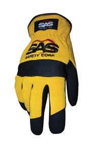 6344 by SAS SAFETY CORP - Mechanic's Slip-On Safety Gloves Yellow X-Lg