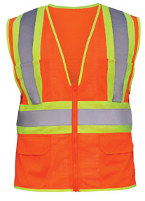 6922110 by SAS SAFETY CORP - FR OR W/R TAPESAFTYVEST-XLRG