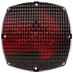 6501 by TRUCK-LITE - Signal-Stat, Arrow Lens, Incandescent, Red Square, 2 Bulb, Rear Turn Signal, 4 Screw, Hardwired, Stripped End, 12V