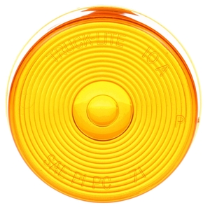 99001Y by TRUCK-LITE - Round, Yellow, Acrylic, Replacement Lens for 8506R/Y-1, 10300R/Y, 10301R/Y, Snap-Fit