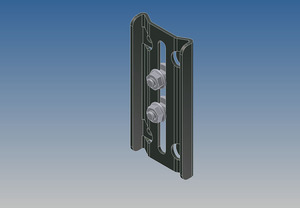 1264 by WHITING DOOR MANUFACTURING - TOP CLOS.BASE W/NUTS & BOLTS