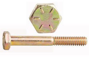 "0115009 by FASTENAL - 1/4""-20 x 1-1/2"" Grade 8 Yellow Zinc Finish Hex Cap Screw"