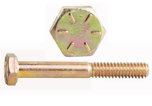 """0137871 by FASTENAL - 3/4""""-10 x 6"""" Grade 8 Yellow Zinc Finish Hex Cap Screw - Made in USA"""