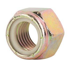 "1137185 by FASTENAL - 3/8""-16 Grade 8 Yellow Zinc Finish NE Steel Nylon Insert Lock Nut"