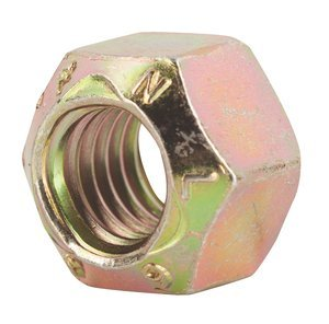 """38067 by FASTENAL - 3/4""""-10 Yellow Zinc Finish Steel Top Lock Nut USA for Grade 9 Applications"""