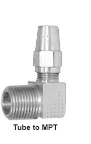 A69-4-6 by POWER PRODUCTS - Air Brake Male 90 Elbow 1/4 X 3/8
