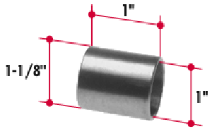BT579 by TRIANGLE SUSPENSION SYSTEMS CO. - Bi-Metal Bushing (1-1/8 x 1 x 1)