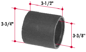H242 by TRIANGLE SUSPENSION SYSTEMS CO. - ToolHutchens Equalizer Bushing Installation Tool; Use with H102; Note: Facilitates Installation of Equalizer Center Bushing on most Hutchens Suspensions