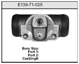 E13971025 by BENDIX - Wheel Cylinder