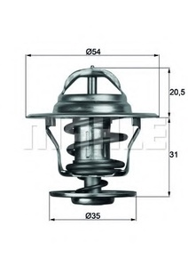 TX13-71D by HELLA USA - THERMOSTAT INSERT VW