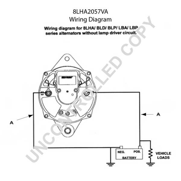 8lha2057va by leece neville high output alternator rh finditparts com Residential Electrical Wiring Diagrams HVAC Wiring Diagrams
