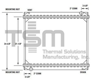 0437133 by THERMAL SOLUTIONS MFG. - Radiator