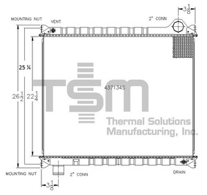 0437134S by THERMAL SOLUTIONS MFG. - Radiator