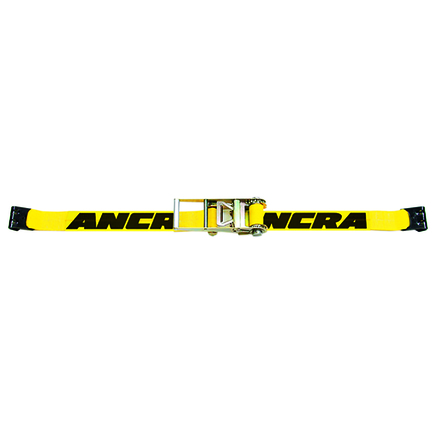 "48987-21 by ANCRA - 3"" x 30' Ratchet Strap w/41766-18 Flat Hooks- 5,400 lbs. WLL"