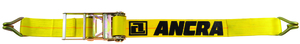 "49346-12 by ANCRA - 4"" x 27' Ratchet Strap w/Narrow Wire Hooks- 6,600 lbs. WLL"