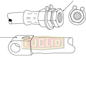 E10576 by EUCLID - HYDRAULIC BRAKE - HOSE