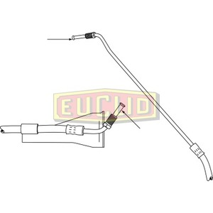 E10644 by EUCLID - HYDRAULIC BRAKE - HOSE