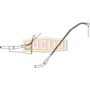 E10645 by EUCLID - HYDRAULIC BRAKE - HOSE