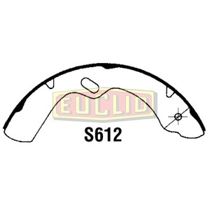 E12615 by EUCLID - BRAKE SHOE - SERVICE BRAKE SHOE AND LINING KIT