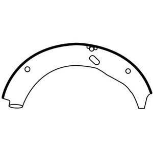 E4009 by EUCLID - HYDRAULIC BRAKE SHOE, UNLINED