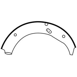 E4010 by EUCLID - HYDRAULIC BRAKE SHOE, UNLINED