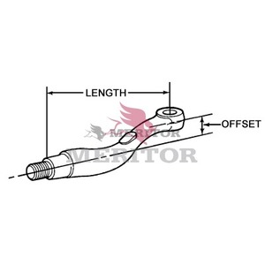 3133Y6785 by MERITOR - TIE ROD ARM LH