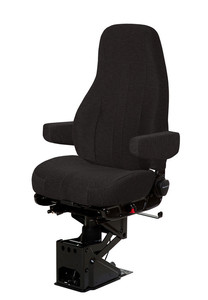 50764.365 by NATIONAL SEATING - CAPTAIN SEAT HIGH BACK BLACK MORDURA CLOTH WITH ARMS