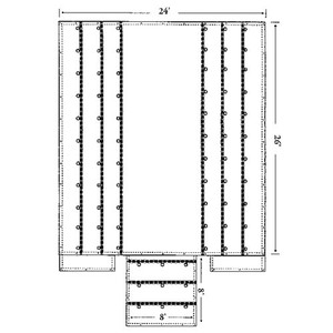 SLLW-8-BK by HARP TARP & SONS - Standard Lumber Tarp - Black
