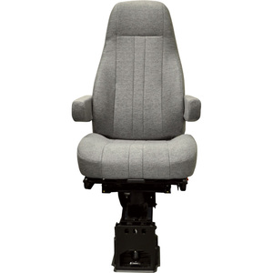 50764361 by NATIONAL SEATING - Captain Air Ride Seat for Big Trucks - Grey Cloth, High Back with Air Suspension