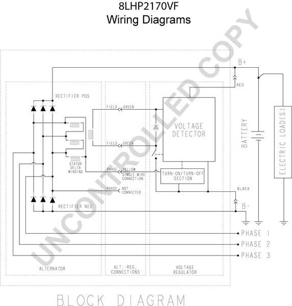 110-555PHO by PRESTOLITE - 8LHP2170VF - High Output Alternator