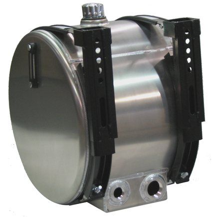 A4535-DS90-ST by AMERICAN MOBILE POWER - Hydraulic Tank Specialty Aluminum Saddlemount Tank: 35 Gallon, Ports out rear
