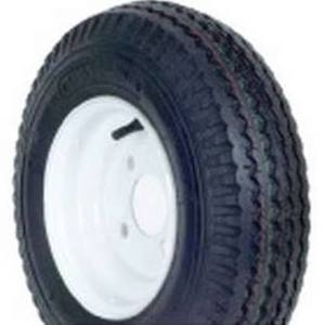 "30000 by AMERICANA WHEEL & TIRE - KENDA 4.80/4.00-8 BIAS TRAILER TIRE WITH 8"" WHITE WHEEL"