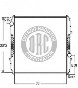 FR50 by DETROIT RADIATOR CORP - RADIATOR for Freightliner FR50