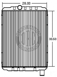 IN9900I by DETROIT RADIATOR CORP - RADIATOR for 2003-2007 International 9200i-9400i, 9900i-ix, 8600 Series
