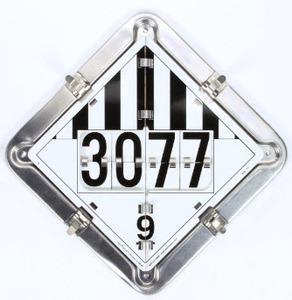 126-CTP by LABELMASTER - 8 Legend Flip Placard System for Tankers, Full Frame
