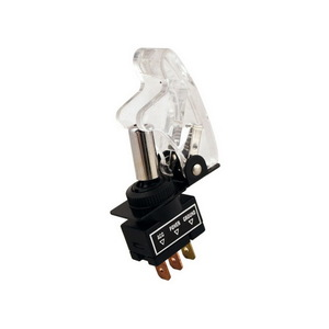 PL-SW35C by PILOT - Toggle Switch w/ Clear Safety Cover w/ Blue-Red L.E.D.